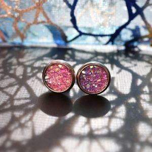 Beautiful Multicolor Star Resin Stud Earrings